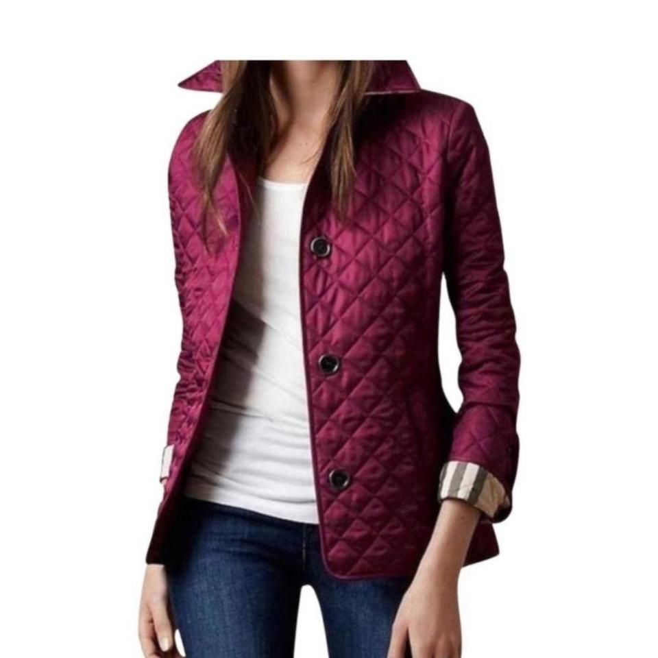 Burberry Purple Quilted Spring Jacket Size 4 (S) - Tradesy : purple quilted jacket - Adamdwight.com