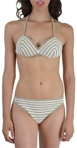 Malo Malo Women's Multi-Color Striped Knitted Bikini Swimsuit US S EU M