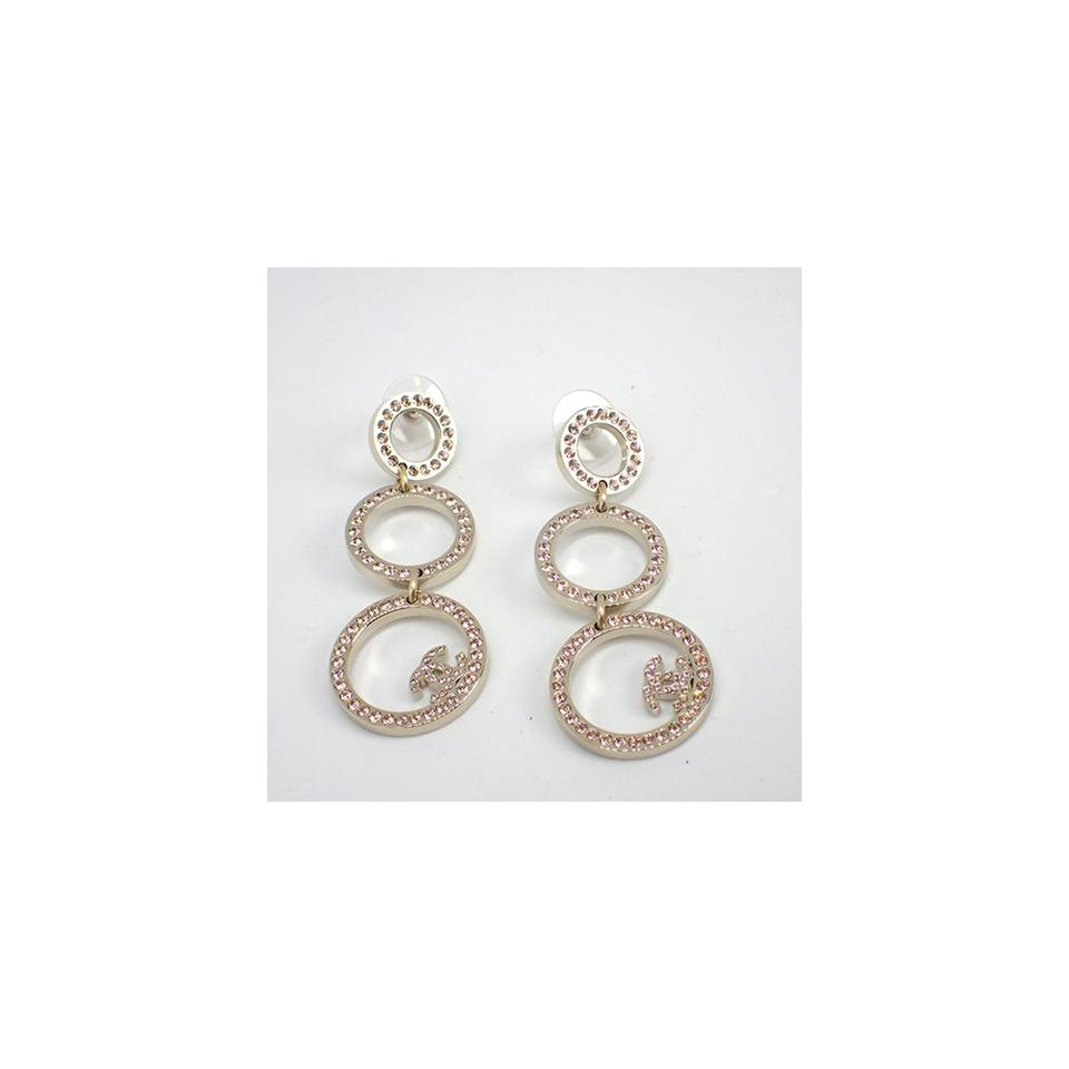 round circular gold in set earrings drop img and white products druzy