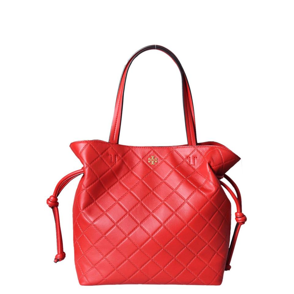11e8e1aa9b6 Tory Burch Georgia Slouchy Quilted In Red Leather Satchel - Tradesy