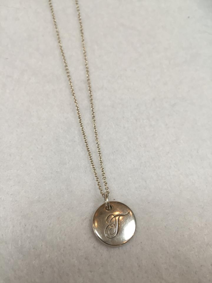 Tiffany co silver sterling initial pendant t necklace tradesy sterling silver initial pendant 12345 aloadofball Gallery