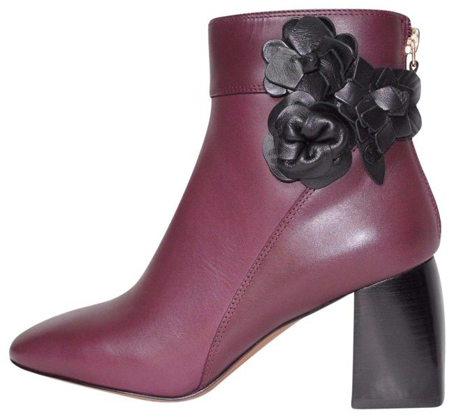 Item - Burgundy Port Floral Leather Boots/Booties Size US 7.5 Regular (M, B)