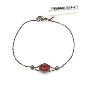 Stephen Webster Deco Red Quartz & Black Diamond 18k Black Gold Bracelet