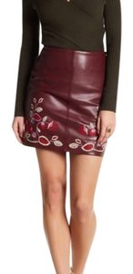 Romeo & Juliet Couture Mini Skirt Burgundy