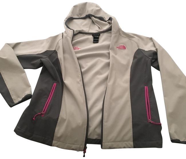 Item - Grey and Pink With Hood Coat Size 14 (L)