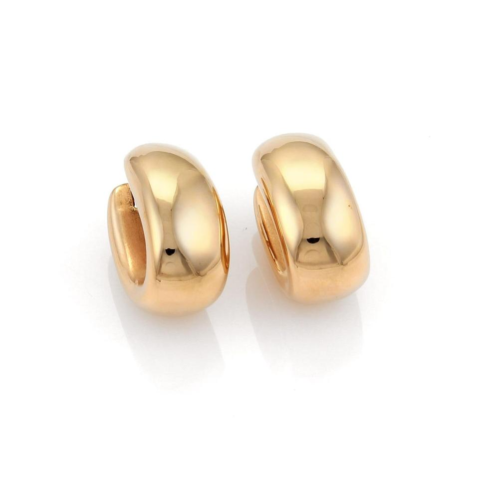 Roberto Coin 18643 Puffed Wide Oval 18k Rose Gold Hoop Earrings 56 Off Retail