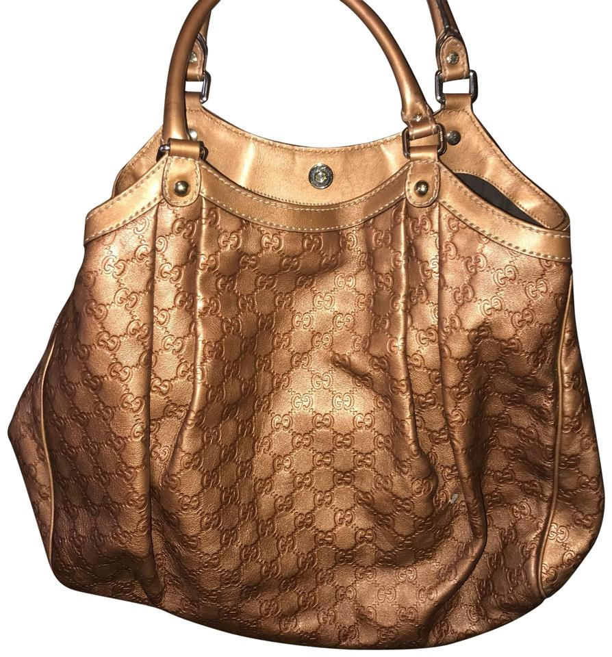 Gucci Sukey Large Bronze Metallic Leather Hobo Bag - Tradesy 3c20b65baf501