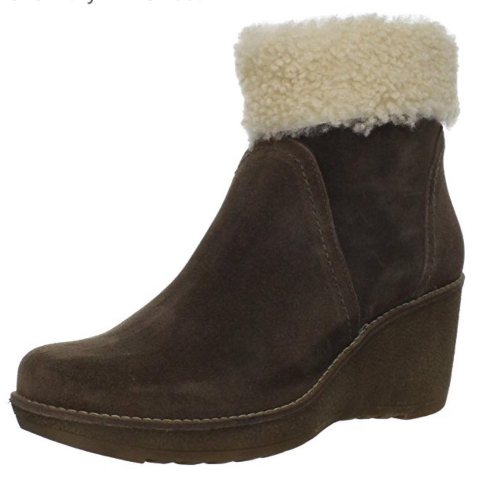 La Canadienne Coco Suede Brown Vicky Suede Coco W/Shearling Boots/Booties ce5169