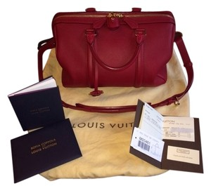 Louis Vuitton Sofia Coppola Cherry Speedy 30 Leather Satchel in Red
