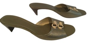 Cole Haan Gold Rings Bronze Mules