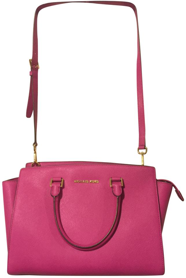 Michael Kors Selma In Pink Saffiano Leather Shoulder Bag - Tradesy a7544e42d8532