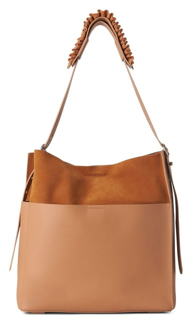 Item - New Minimalist Suede Slouchy Purse Tan Camel Leather Tote