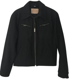 Guess By Marciano Wool 2 Chest+2 Hand Pkts Full Zip Front Smoke-free/Pet-free black Jacket