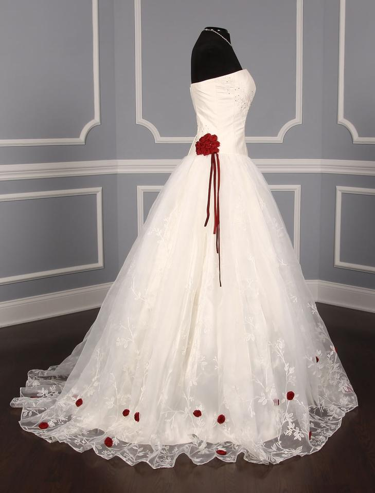 Red Silk Shantung Organza Fleur Formal Wedding Dress 1234567891011