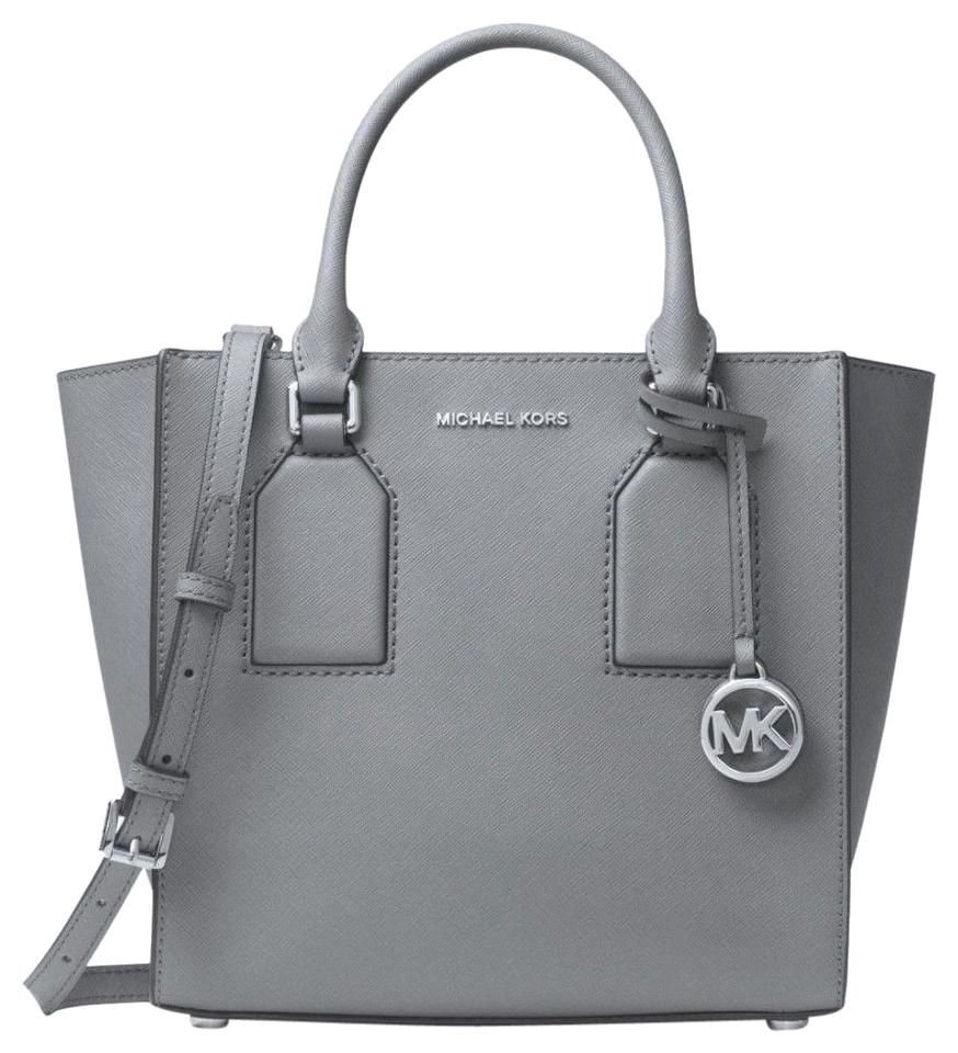 cc39a722fc22bf MICHAEL Michael Kors Medium Shelby Mk Satchel in Pearl Grey Image 0 ...