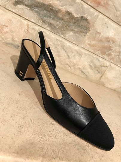 Chanel Mademoiselle Coco Slingback Sling Classic black Pumps