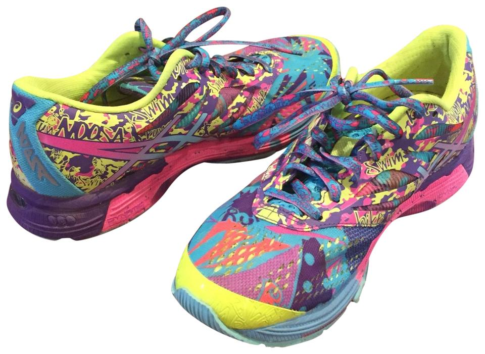best service be014 237f6 Yellow/Aqua/Hot Pink Gel -noosa Tri 10 Sneakers Size US 7 Regular (M, B)  61% off retail