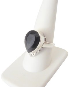 Nicky Butler Nicky Butler Black Onyx Hammered Pear-Shaped Solitaire Ring Size 9