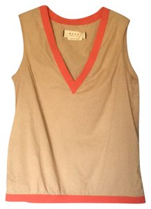 Marni Top beige and coral
