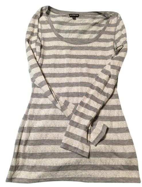 Preload https://item2.tradesy.com/images/express-grey-and-white-t-shirt-2261531-0-0.jpg?width=400&height=650