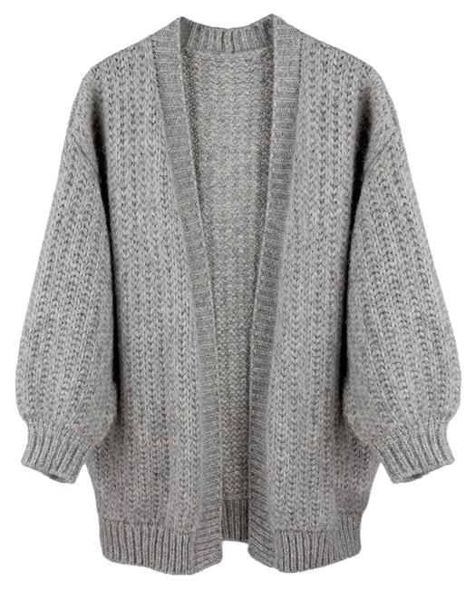 "Item - Gray Oversized Alpaca Sweater - Sold Out"" Cardigan Size OS (one size)"