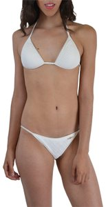 DSquared Dsquared White Beads Decorated Two Piece Bikini Swimsuit