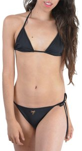 DSquared Dsquared Black Metal Detail Decorated Two Piece Bikini Swimsuit