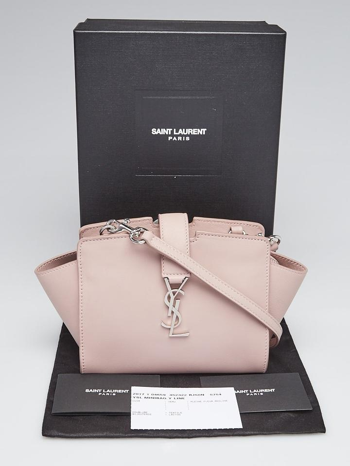 ec3dea46b898 Saint Laurent 2017 (Almost New) Toy Ysl Cabas Pink Calfskin Leather Cross  Body Bag - Tradesy