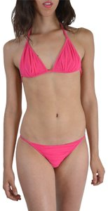 DSquared Dsquared Pink Metal Detail Decorated Two Piece Bikini Swimsuit