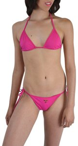 DSquared Dsquared Fuchsia Metal Detail Decorated Two Piece Bikini Swimsuit