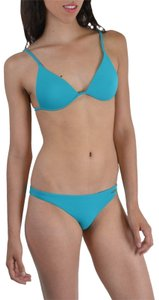 DSquared Dsquared Sea Blue Metal Detail Decorated Two Piece Bikini Swimsuit