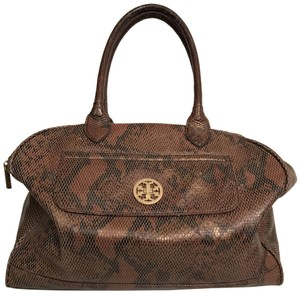 Tory Burch Purse Handbag Shoulder Tote Weekend/Travel Satchel in Brown Black Bronze