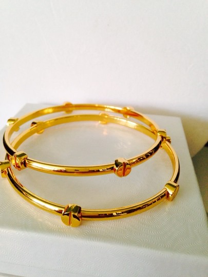 Vince Camuto 2-Piece NWOT Gold-Tone Nail Head Bangles
