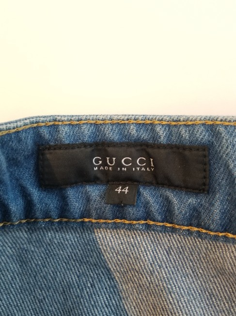 Gucci Skinny Ankle Crop Flare Leg Jeans-Light Wash Image 2
