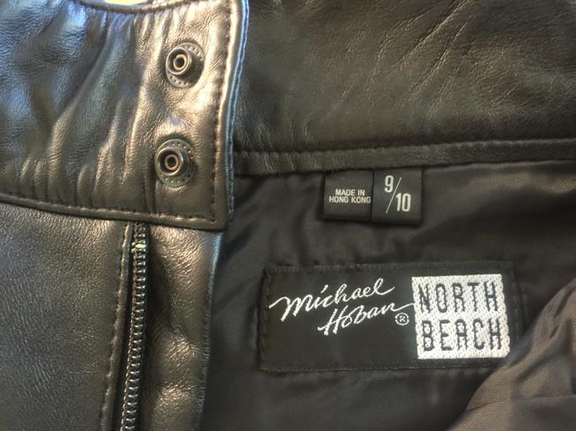 North Beach Leather Shorts Black