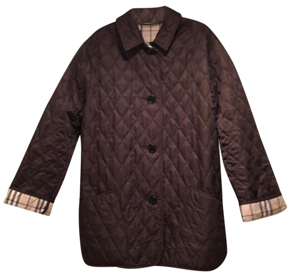 Jacket With Aiionr7qx Plaid Cuff Brown Quilted Check Burberry Coat Diamond gqF4A8aw