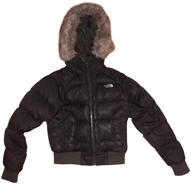 Item - Brown W Puffer Jacket W/ Fur Hood Coat Size 4 (S)