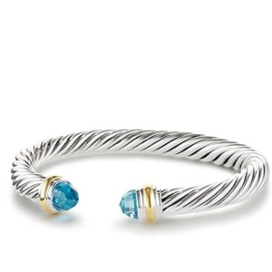 David Yurman David Yurman 7mm Blue Topaz Cable Bracelet