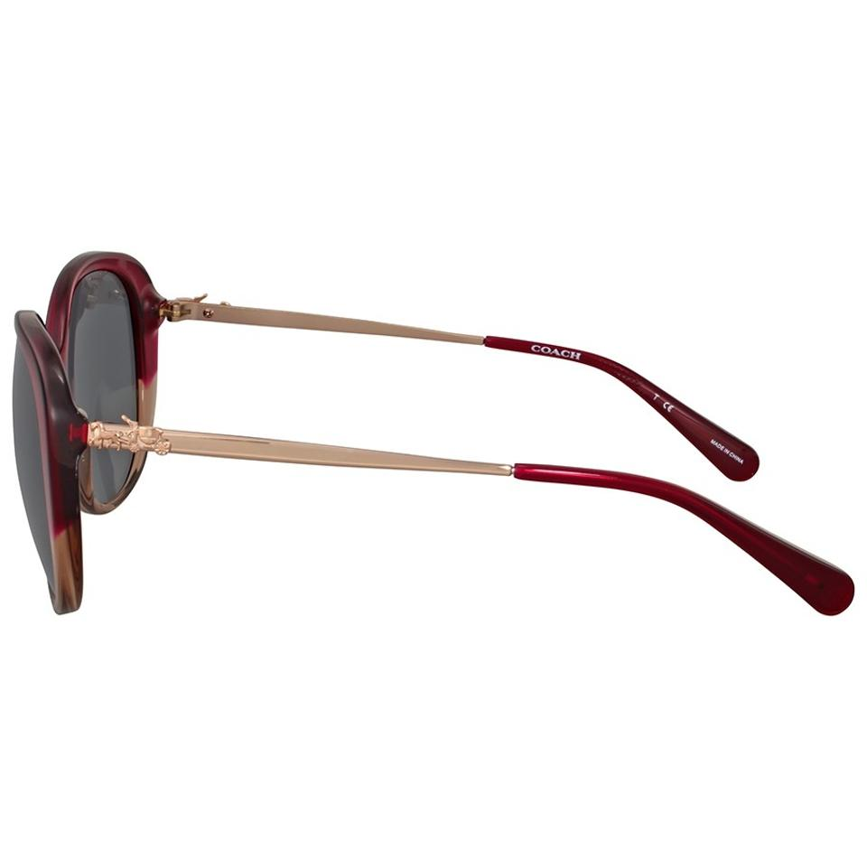 7b86615018 ... coupon code for coach 547387 red sand gradient womens hc8215 dark grey  solid metal oval sunglasses ...