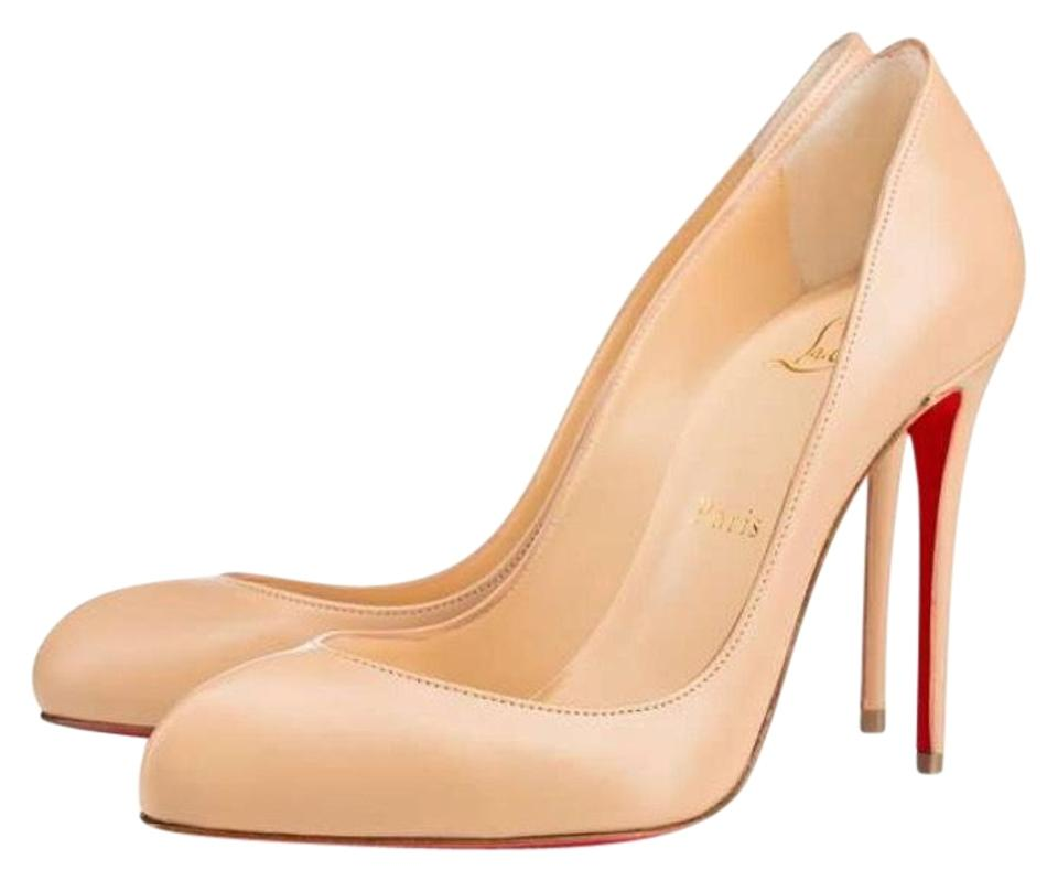 Christian Louboutin Beige Breche Doudou Pumps Tan Leather Classic Stiletto Pumps Doudou e4c926