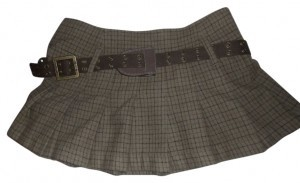 G Unit Mini Skirt Brown/plaid