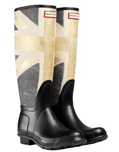 Hunter Special Edition Rainboots British Union Jack Gold Boots