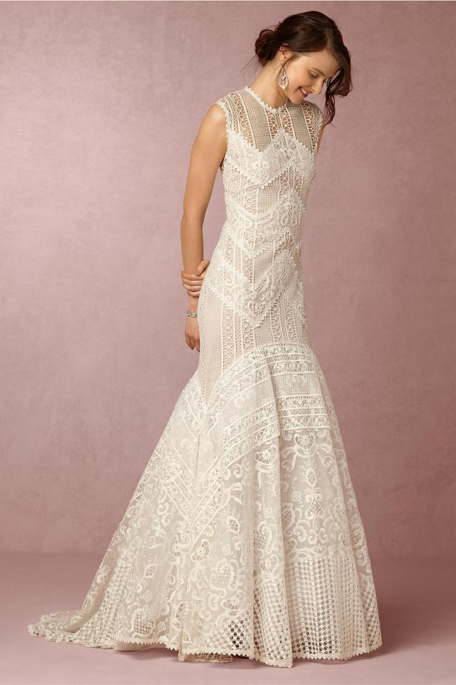 450d589497365 BHLDN Ivory Lace Blanca Gown By Christos Costarellos - Unaltered Like New Modest  Wedding Dress