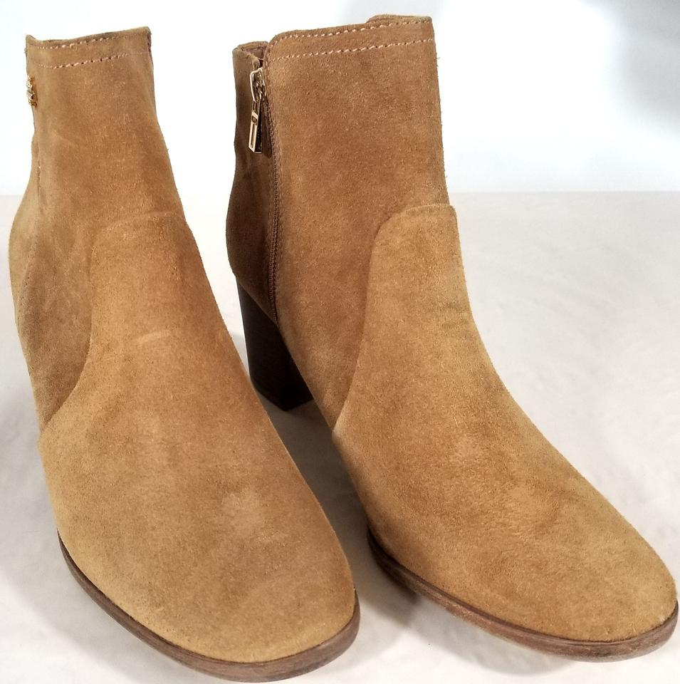 b23ed4b96ff Tory Burch Camel Sabe Suede Round-toe Ankle Boots Booties Size US 9 ...