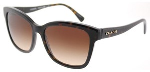 Coach Coach HC 8219 512013 Dark Tortoise Plastic Sunglasses Brown Gradient L