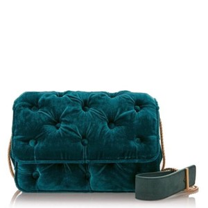 Benedetta Bruzziches Velvet Tufted Velvet Shoulder Bag