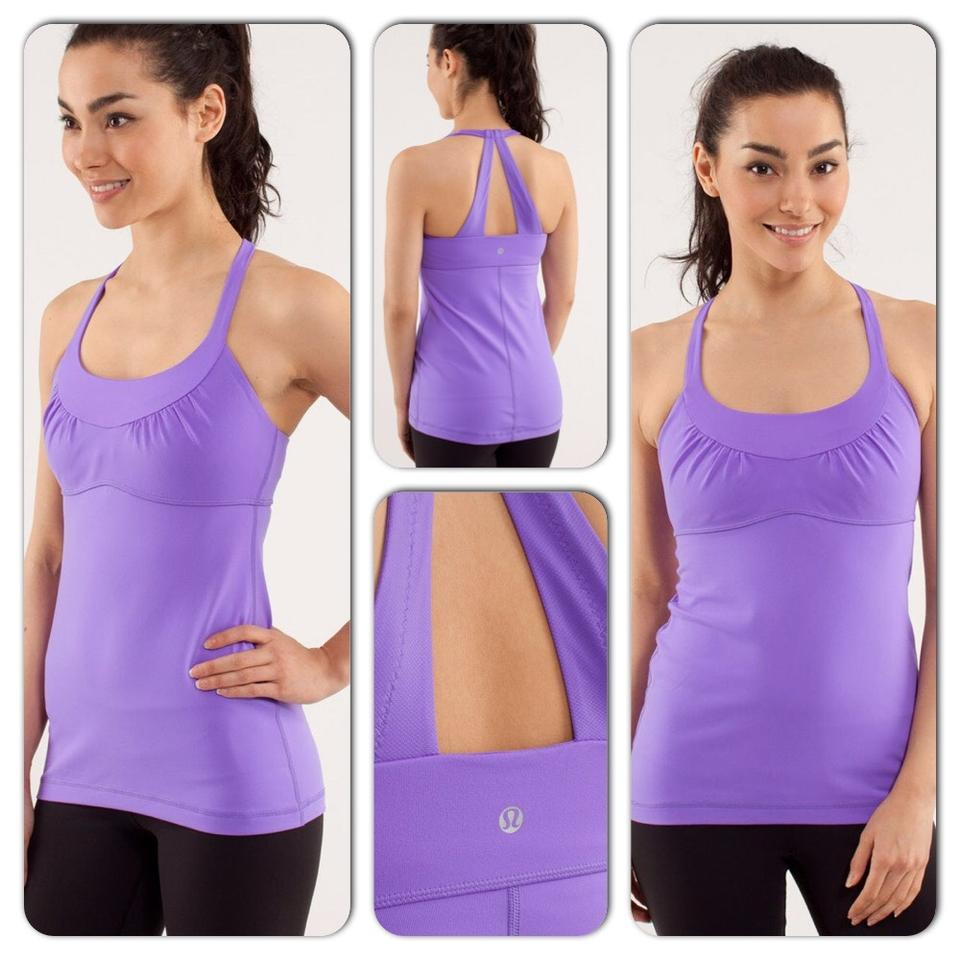 5e4a0704f2faf1 Lululemon Power Purple Scoop Me Ii Activewear Top Size 8 (M) - Tradesy