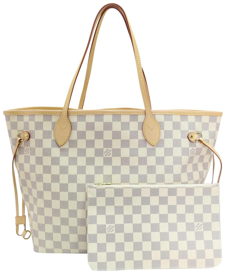 Louis Vuitton Lv Damier Canvas Neverfull Shoulder Bag