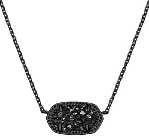 Kendra Scott Brand New Kendra Scott Elisa Necklace in Gun Metal Black Drusy