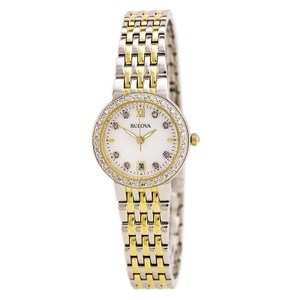 Bulova Bulova Women's Quartz Stainless Steel Casual Watch, Color:Two Tone